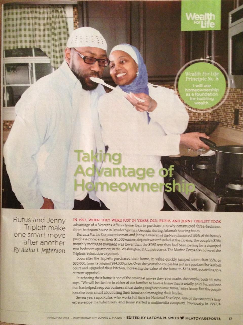 Jenny and Rufus Triplett in Black Enterprise Magazine