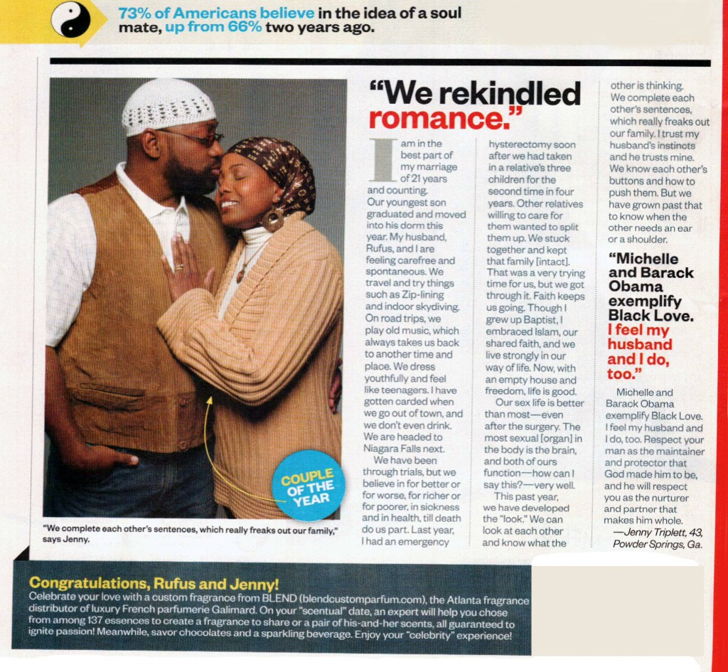 Rufus & Jenny Triplett in Ebony Magazine