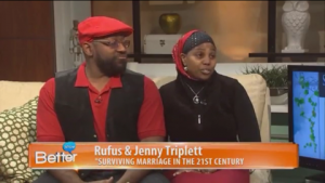 Jenny and Rufus, Rufus and Jenny, Jenny Triplett and Rufus Triplett at Better TV, social media influencers, talk show