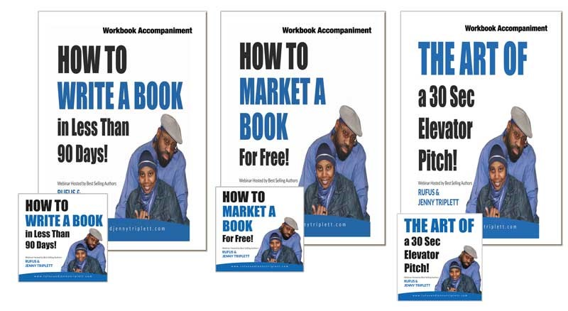 Jenny Triplett, Rufus Triplett, book business webinar set, CD lessons, author education, marketing, workbooks