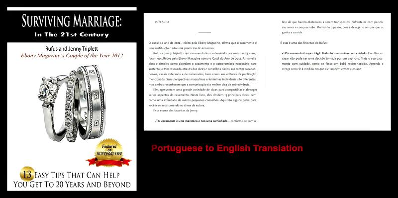 Surviving Marriage in Portuguese, Jenny triplett, Rufus Triplett, 25 years of marriage