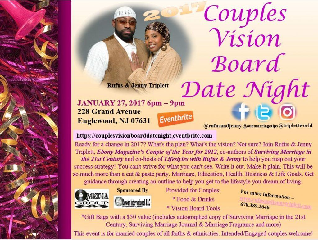 Couples, Vision Board Date Night, Englewood, New Jersey, Jenny Triplett, Rufus Triplett