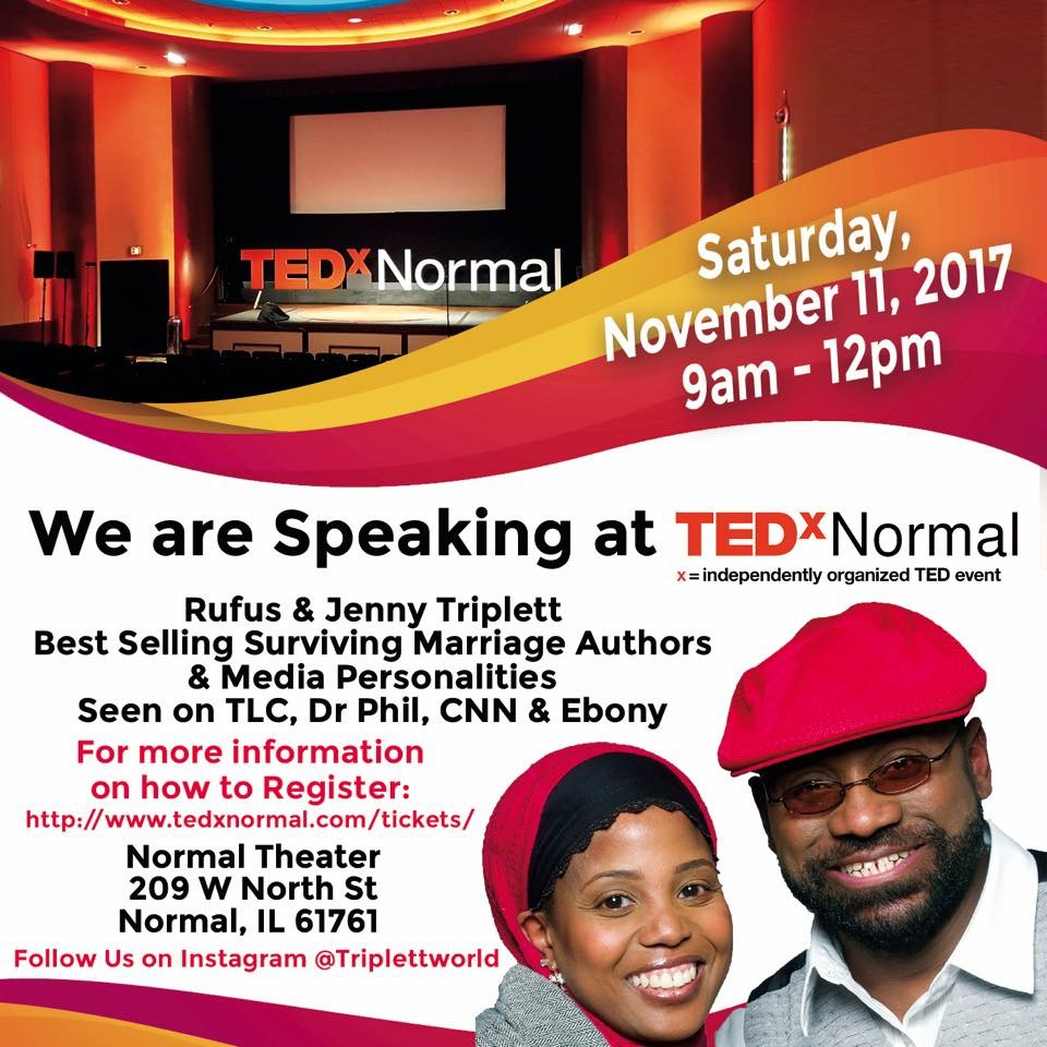 Normal , IL , tedx normal, rufus and jenny, jenny triplett, jenny going in with diversity, rufus and jenny do tedx