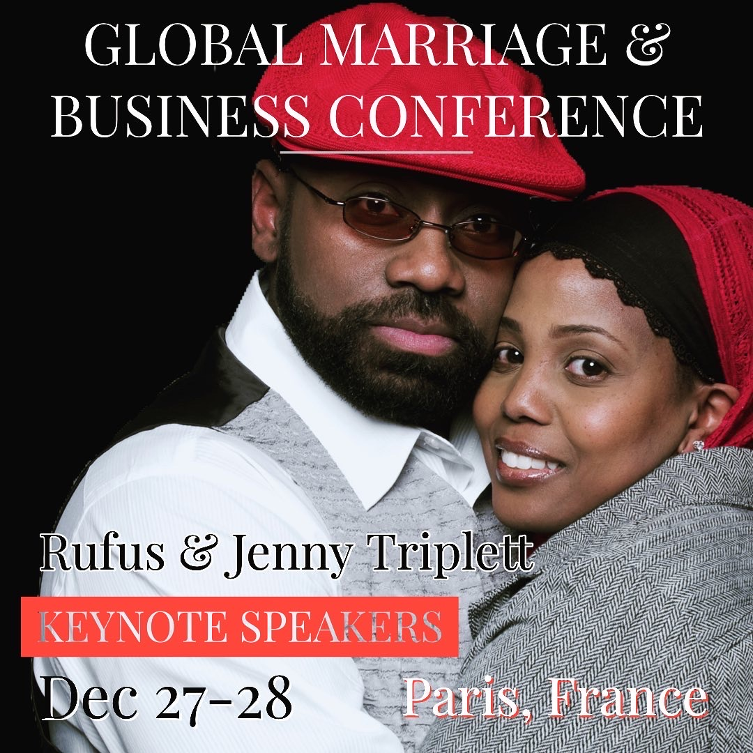 Rufus and Jenny at Global Conference in Paris