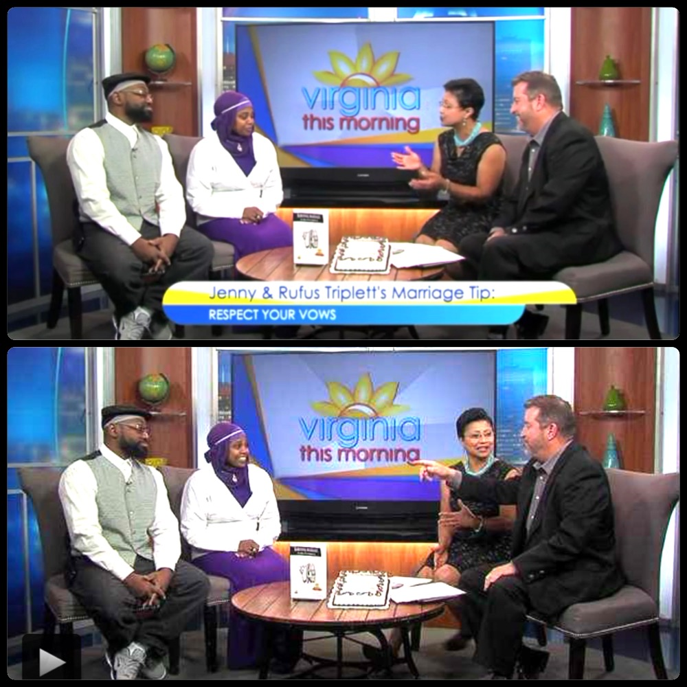 Jenny and Rufus Triplett celebrate 25 years of Marriage on Virginia this Morning